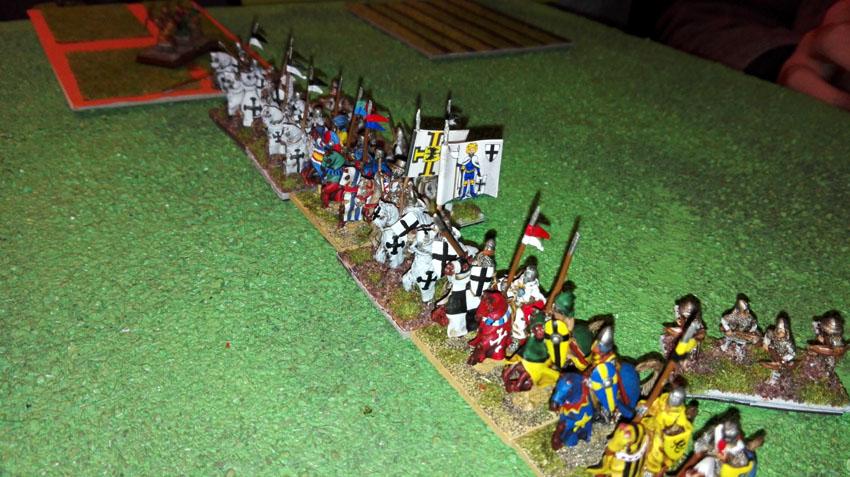 La fière chevalerie teutonique et ses alliés