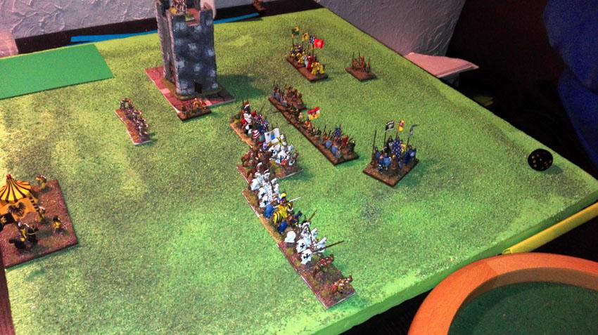 Entre Chevaliers Teutoniques et Français médiévaux, il n'y a pas vraiment eu de lutte