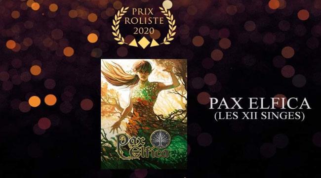 Prix Rôlistes 2020: récompense ultime pour Pax Elfica, joli carton de Würm