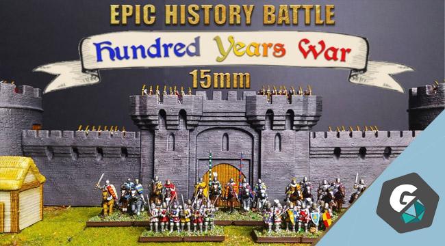 Hundred Year Wars, des figurines 15mm sur Game On Tabletop